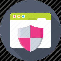 antivirus, protection, shield, web, web security icon