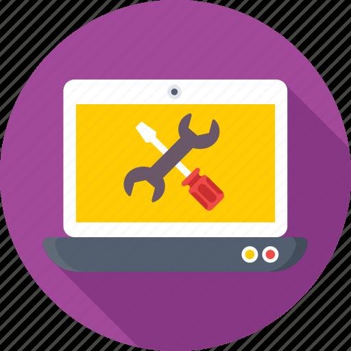 development, repair, screwdriver, spanner, technical service icon