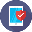 antivirus, mobile, protection, security, shield icon