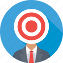bullseye, customer, marketing, seo, target user icon