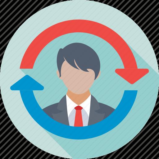 account, reload, sync profile, update profile, user icon
