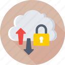 cloud computing, cloud data, data security, icloud, technology icon