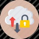 cloud computing, cloud data, data security, icloud, technology icon