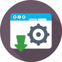 cog, programming, web development, web tools, website icon
