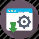 cog, programming, web development, web tools, website icon