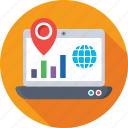 graph, global, map pin, location, local seo