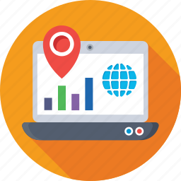 global, graph, local seo, location, map pin icon
