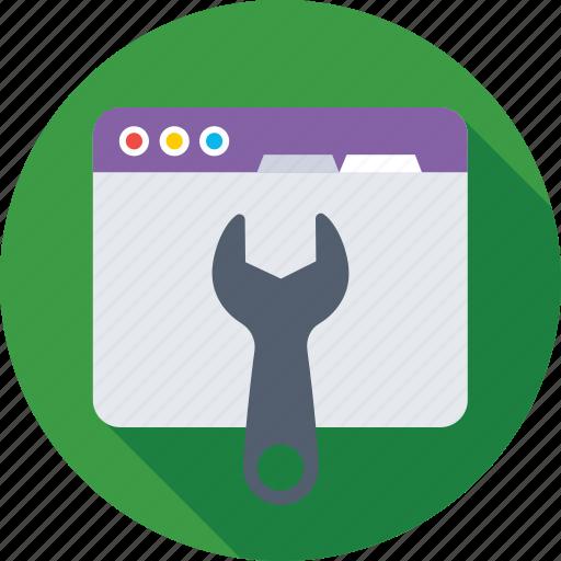 repair, spanner, web development, web setting, website icon
