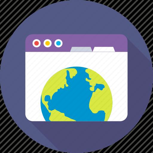 browser, internet, web, webpage, website icon