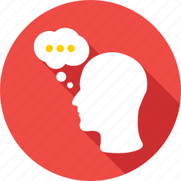 chat bubble, head, mind, talking, thinking icon
