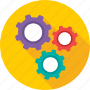 cogs, maintenance, repair, services, settings icon