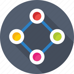 connections, links, network, share, social media icon