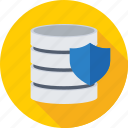 data security, database, protection, server, shield icon