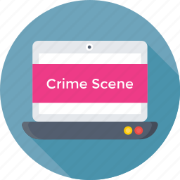 crime scene, investigation, laptop, seo, web profiling icon