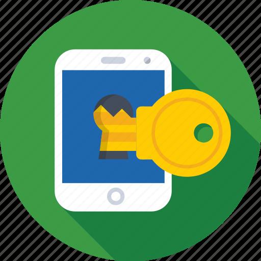 key, keywording, mobile, passkey, password icon
