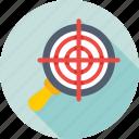 magnifier, marketing, optimization, seo, target