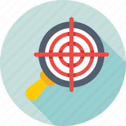 magnifier, marketing, optimization, seo, target icon