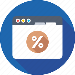 discount, math sign, percent, percentage, promotion icon