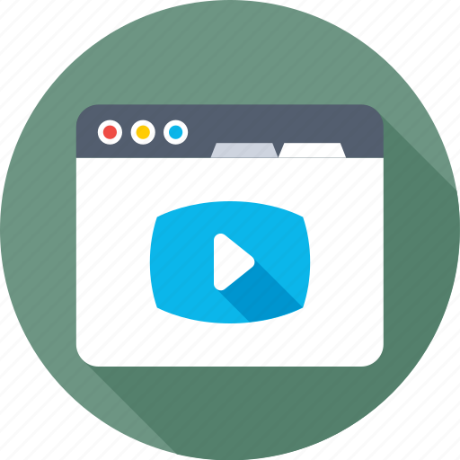 media player, online video, streaming, web page, website icon