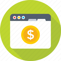 dollar, ebanking, money making, payment, website icon