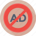 adblock, ads, advertisement, blocker, restriction icon