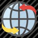 around globe, around world, global communication, world globe, worldwide icon