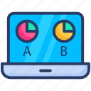 ab testing, conversion, exchange, testing icon