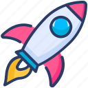 campaign, launch, rocket icon