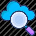 cloud, data, search icon