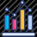 analytics, benchmark, graph, seo icon