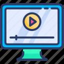 marketing, video, youtube icon