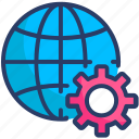 global settings, internet settings, optimization, seo, web development, web settings icon