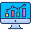chart, data, graph, graph chart, monitoring, seo icon