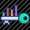 analysis, business, chart, graph, keyword, money icon