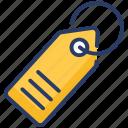 badge, branding, label, tag, ticket icon