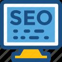 led, monitor, search engine, seo, seo services icon