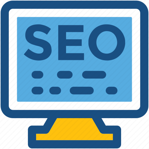 led, monitor, search engine, seo, seo services icon