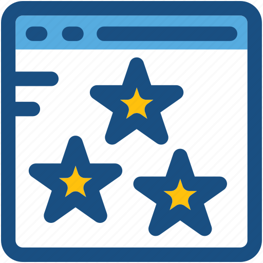 digital marketing, rating stars, seo, web ranking, web rating, website icon