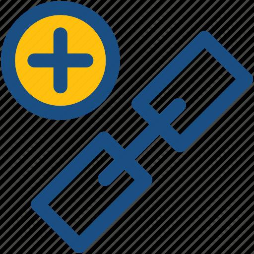 add link, add url, backlink, hyperlink, related link icon