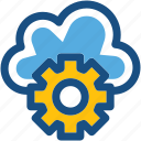 cloud maintenance, cloud repair service, cloud settings, network settings, settings icon