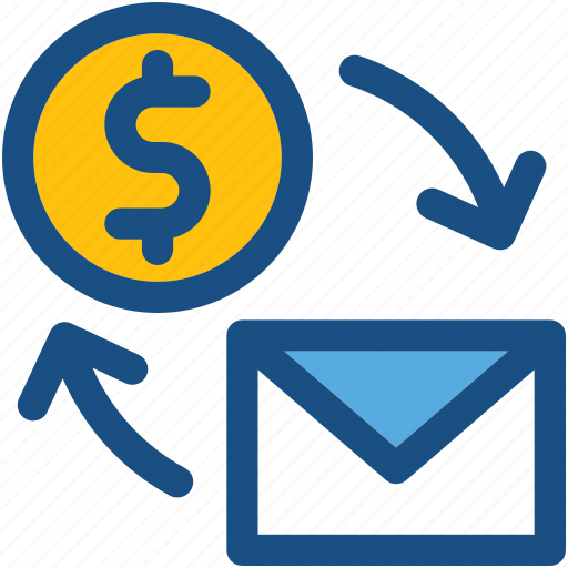 dollar, email marketing, envelope, seo, seo letter icon