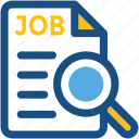 employment, human resource, job post, job search, magnifier icon