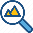 image, image search, magnifier, photo, seo search icon