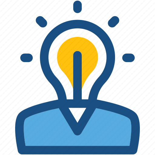bulb, creative mind, innovative mind, intelligence, smart worker icon