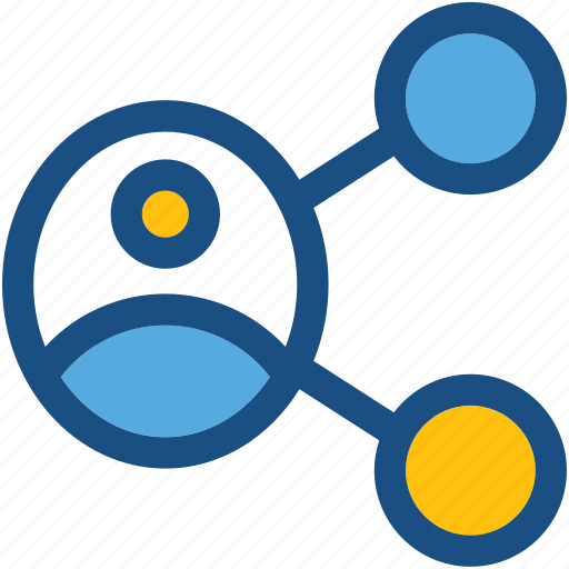 profile, share, share user, social media, social network icon