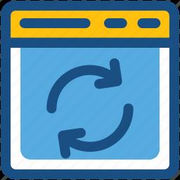refresh web, sync web, update web, web page, website icon