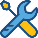 optimization, repair tools, screwdriver, settings, wrench icon
