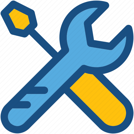 optimization, repair tools, screwdriver, settings, wrench icon