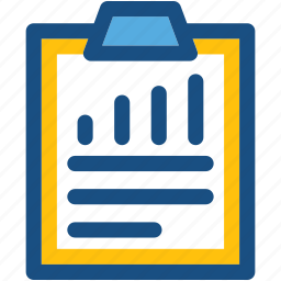 analysis report, clipboard, document, file, seo report icon