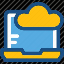 cloud connectivity, cloud drive, cloud network, laptop, network fidelity icon